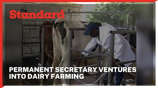 Meet Permanent Secretary in the Ministry of Environment who decided to venture into dairy farming