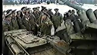 Испытания ДЗ танка  пять выстрелов со ста метров 125 мм кумулятивными снарядами.480