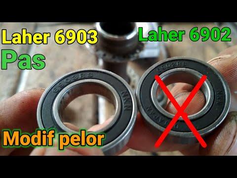 Hub pelor modif freehub bearing / laher 6903 pas dengan lingkaran hub pelor