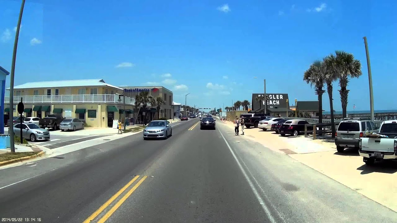 Driving On Daytona Beach >> Florida A1A - YouTube