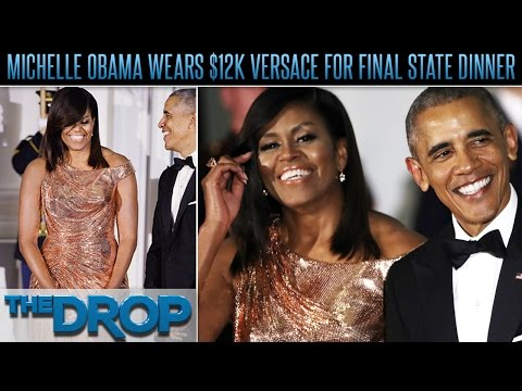 America's First Lady Turns Heads at Final State Dinner – The Drop Presented by ADD