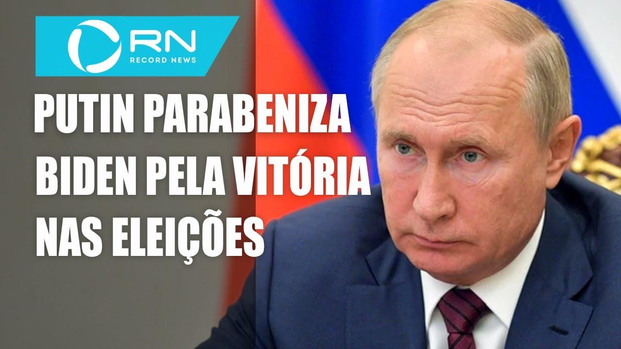 Putin parabeniza Joe Biden pela vitória nas eleições dos EUA