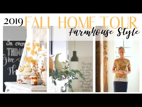 Fall Home Tour 2019 ~ Farmhouse Style Home Tour ~ Neutral Fall Decor ~ Fall Cottage Home Tour