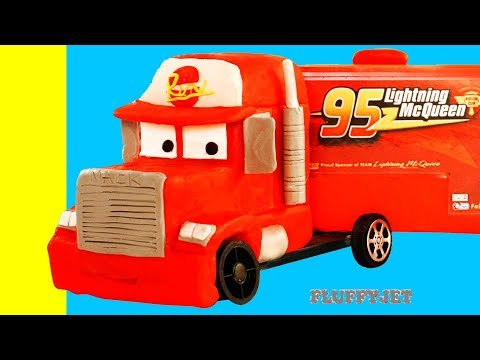 Lightning McQueen Mack Truck Disney Cars 3 Play Doh Stop Motion kids song video