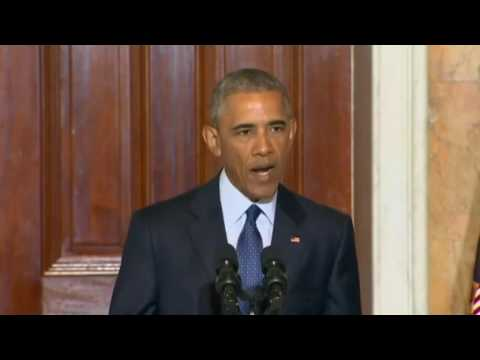 President Obama speaks after a meeting with his National Security Council. Full speech.