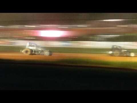 USAC Sprint Car B Main Part 2  Bloomington Speedway