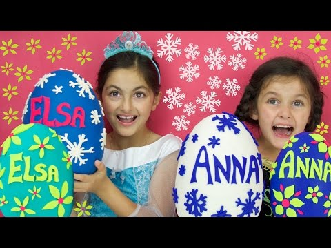 Disney Frozen Videos Elsa & Anna PLAY DOH SURPRISE EGGS Compilation! Shopkins Kinder Toys + GIVEAWAY