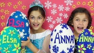 Disney Frozen Videos Elsa & Anna PLAY DOH SURPRISE EGGS Compilation! Shopkins Kinder Toys + GIVEAWAY