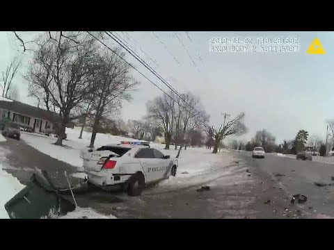 BODY CAM: Monroe Police Crash