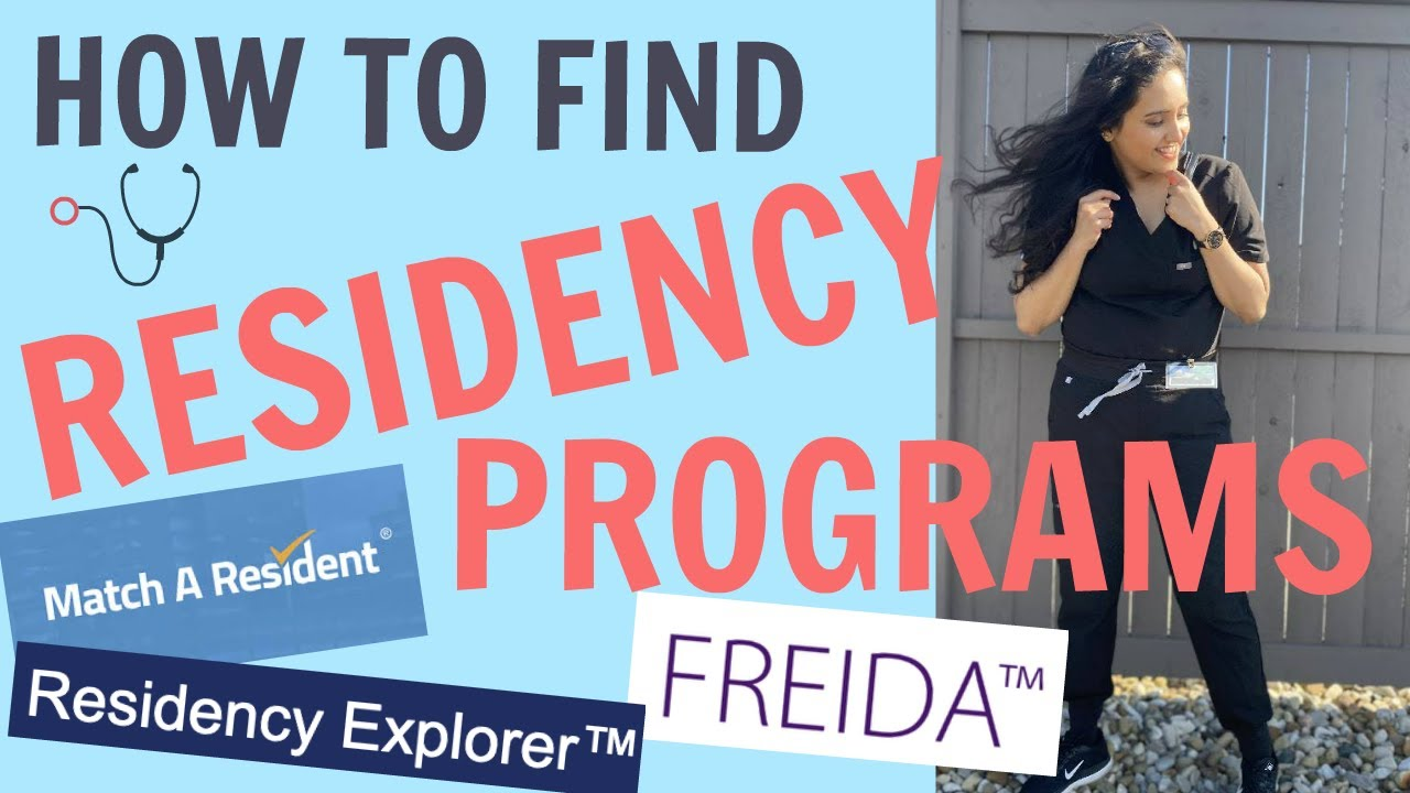 Download How to find Residency Programs - FREIDA/RESIDENCY EXPLORER/MATCH A RESIDENT