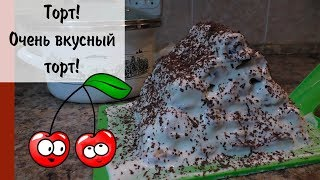 """Торт """"Зимняя избушка"""" или """"Монастырская изба""""   Cake Cherry honeycomb"""