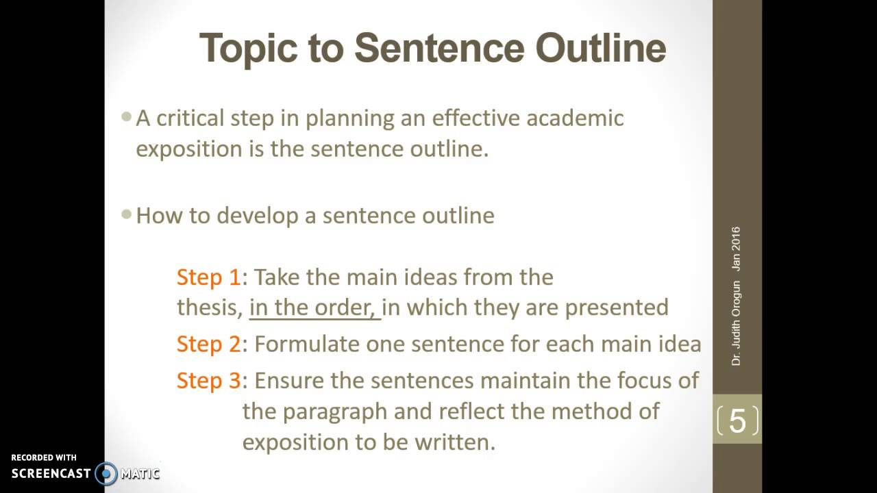 sentence outline research paper format Classic model for an argument below is a basic outline for an argumentative or o this section of your paper gives the reader the basic information he.