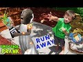 RUN AWAY!  Shawn Pops Granny + FUNnel Fam Smoothie Prank Vision Vlog)