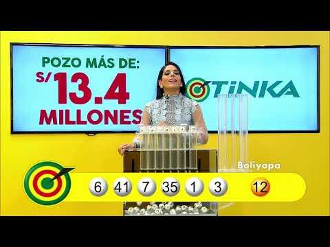Sorteo Tinka - Miércoles 23 de mayo de 2018