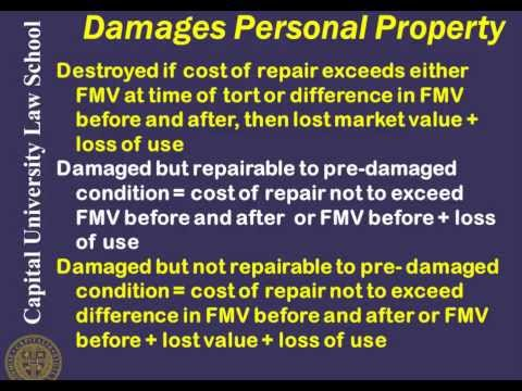 Remedies Video Lecture 3 - Property Damages