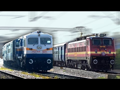 Diesel Vs Electric Loco DEADLY ACCELERATION : Indian Railways
