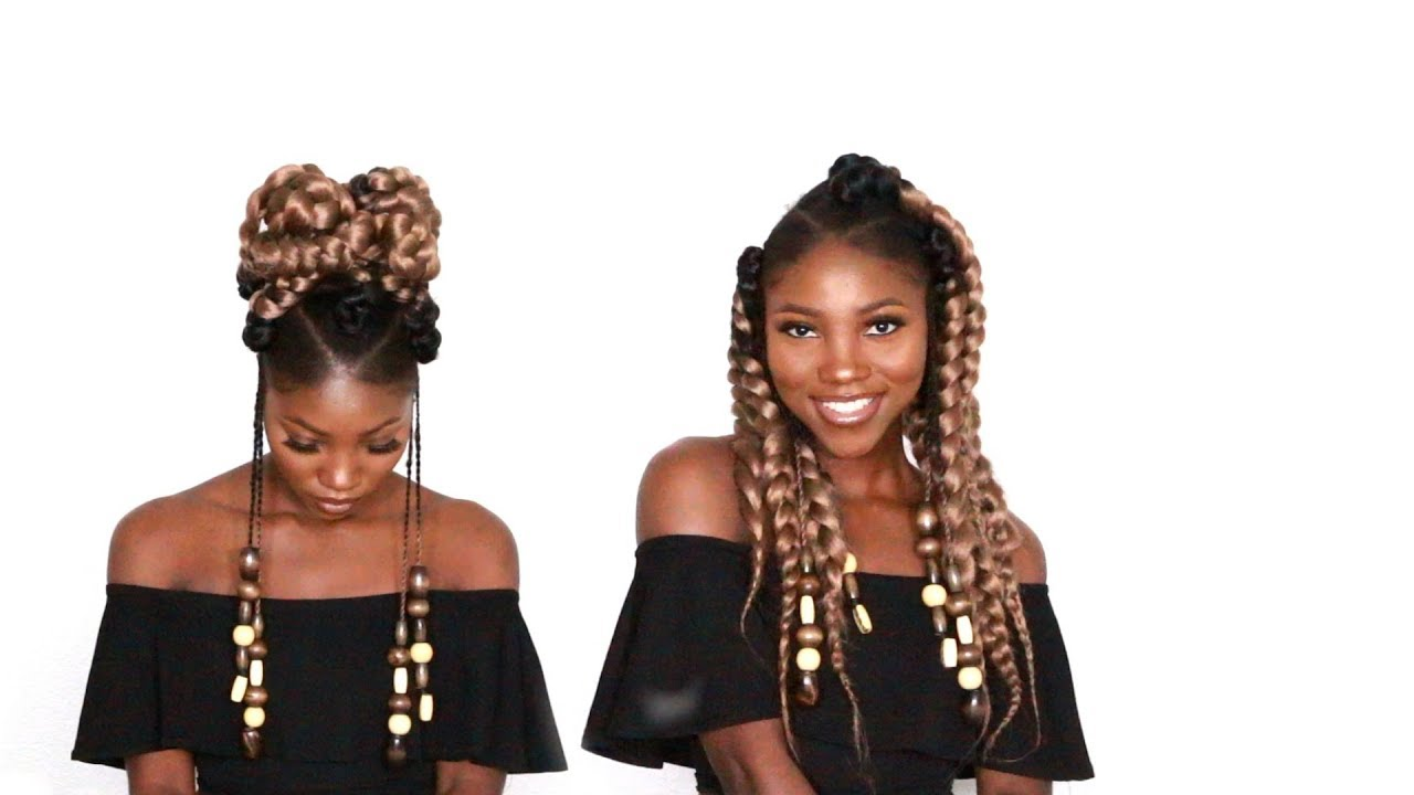Diy Jumbo Ombre Box Braids With Triangle Parts Youtube