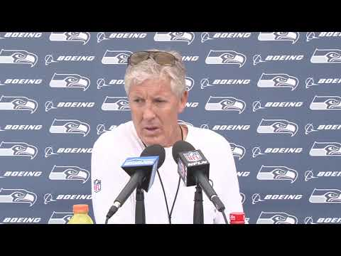Seahawks Head Coach Pete Carroll Rookie Minicamp Day 3 Press Conference