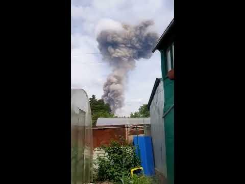Момент взрыва на заводе Кристалл в Дзержинске. 01.06.2019