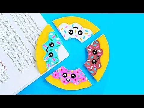 DIY DONUT CORNER BOOKMARKS for Back To School 2018 | Easy & Cute School Supplies