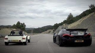 McLaren P1 Vs Caterham 160R | Top Gear