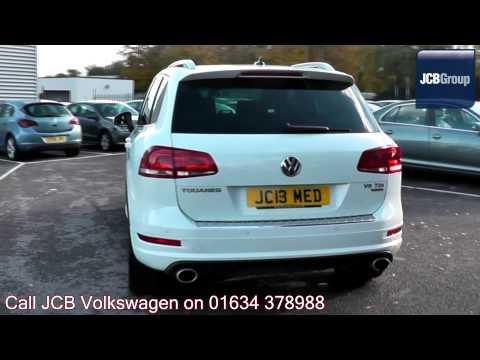 2013 Volkswagen Touareg Altitude 3l Pure White Metallic JC13MED for sale at JCB VW Medway