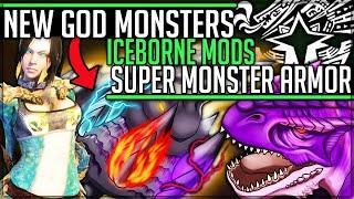 NEW ULTIMATE MONSTER - Hunter Monster Hybrids VS Pro + Noob - Monster Hunter World Iceborne PC Mods!