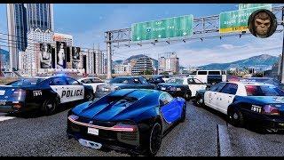 ► GTA 6 Graphics 🔥 POLICE Chase BUGATTI CHIRON! 60 FPS | ULTRA Realistic Graphics 👍 PC GTA V MOD