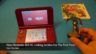 new nintendo 3ds xl linking amiibo for the first time