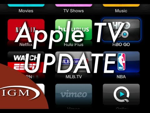 Apple TV update with HBO Go, WatchESPN (v5 3)
