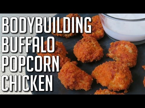 Baked Buffalo Popcorn Chicken (Bodybuilding & Macro-Friendly)