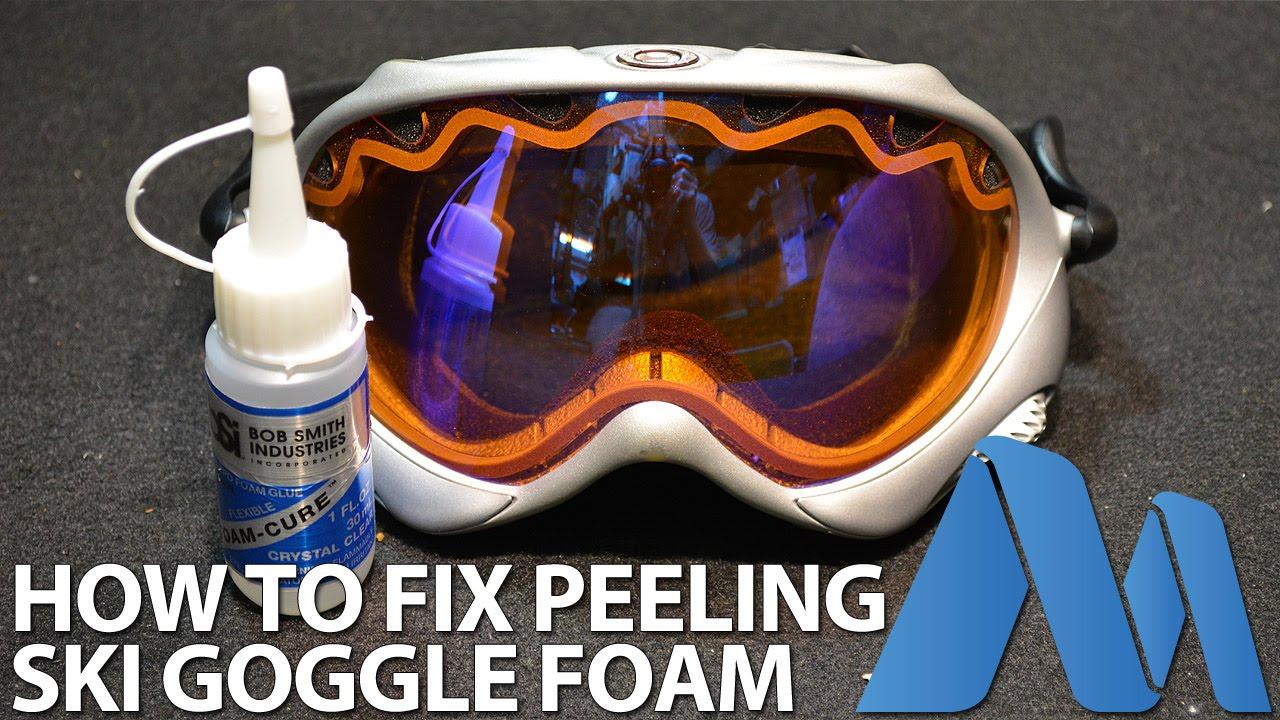 77f2a42f0f How to Fix   Repair Peeling Foam from Ski Goggles - YouTube