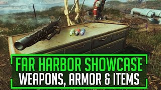 Fallout 4 - Far Harbour WEAPONS, ARMOUR & ITEMS SHOWCASE!