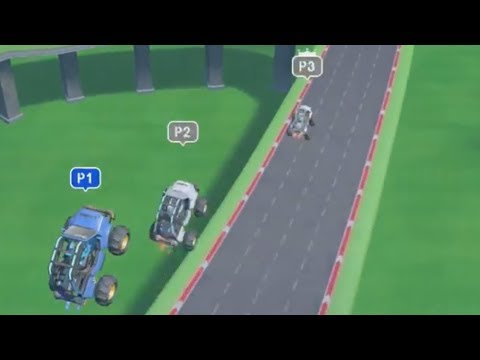 Slot Car Racing ~ Level 5: Figure Eight ~ All AI Difficulties – LABO 03: Vehicle Kit – No Commentary