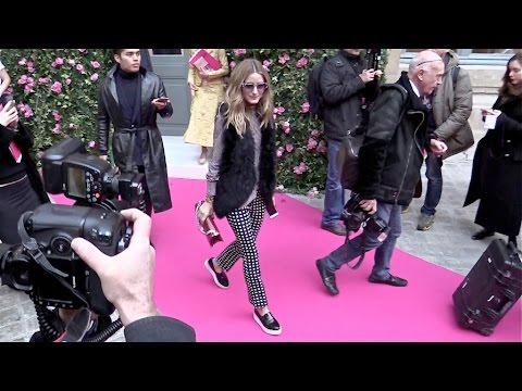 Guests at Schiaparelli Haute Couture Fashion Show in Paris