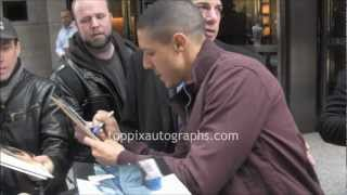 Theo Rossi - Signing Autographs at NYC hotel