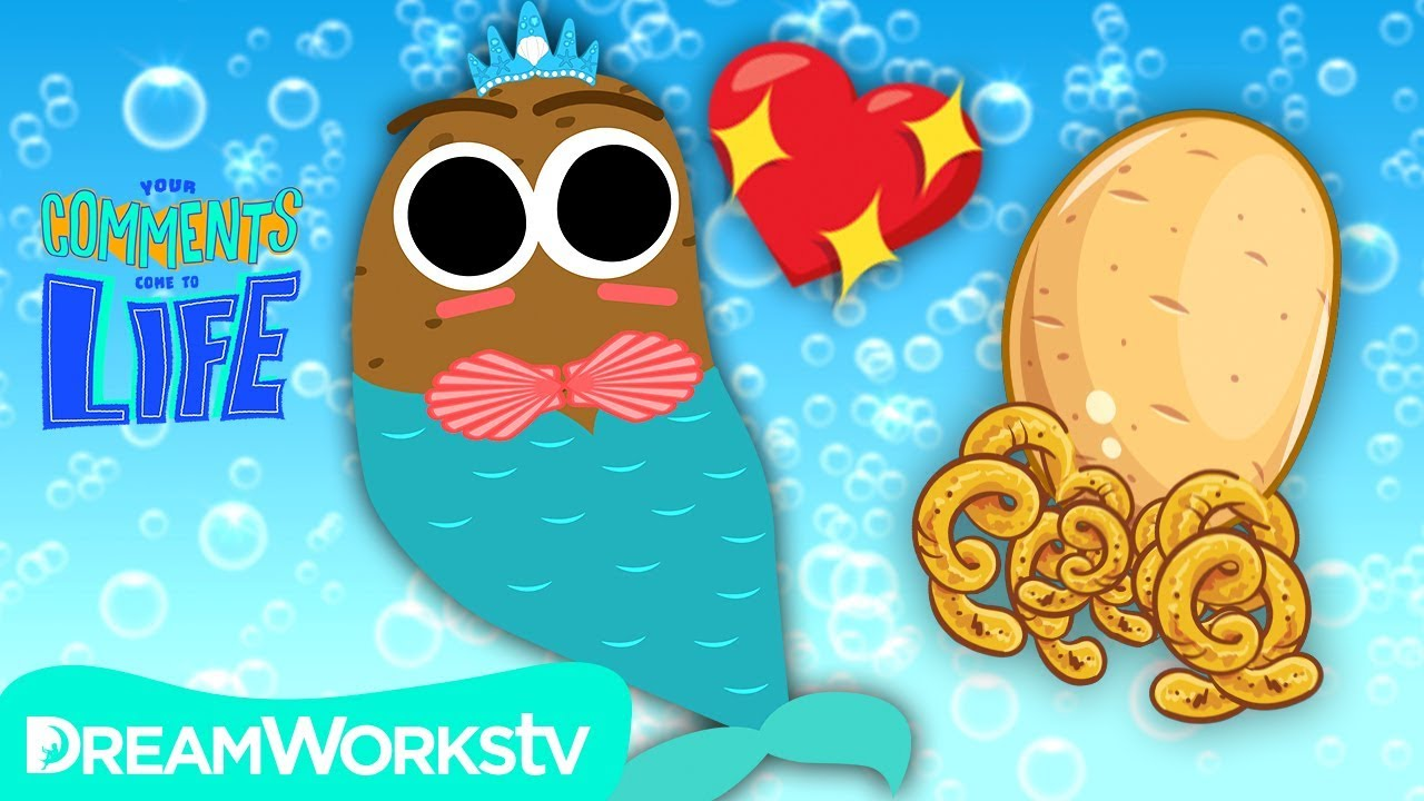 Mermaid Potato with a Pet Potato Jellyfish!?? | YOUR COMMENTS COME TO LIFE