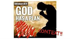 Jeremiah 29:11, a Plan to Prosper You?