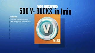 "Fortnite ""Save the World"" How to get in 1min 500V-BUCKS!! (PGST)"