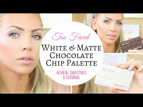 🍫NEW Too Faced White Chocolate Chip & Matte Chocolate Chip Palette 🍫 | Swatches, Review & Tutorial