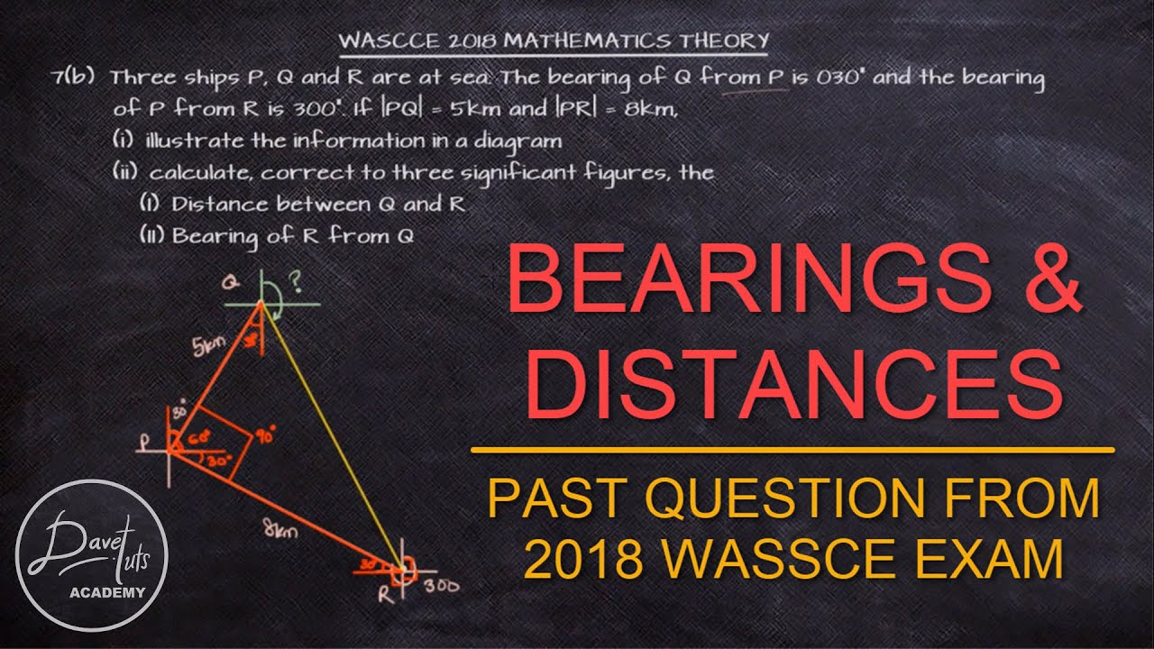 Bearing and Distances with SOHCAHTOA | Solved Past Question from 2018 WAEC WASSCE Exam
