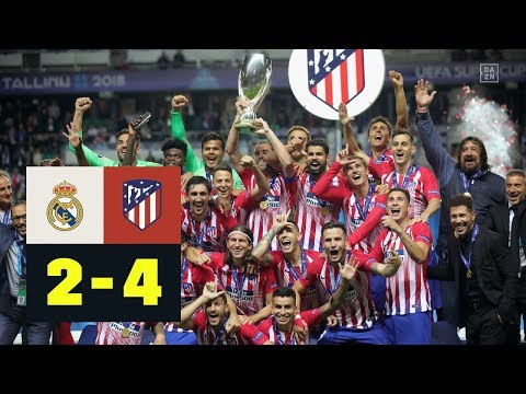 Verlngerung im Derby: Real Madrid - Atltico Madrid 2:4 nV | Highlights | UEFA-Supercup 2018 | DAZN