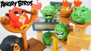 THE ANGRY BIRDS MOVIE PIG CITY STRIKE TNT INVASION RED BOMB SLINGSHOT TOYS