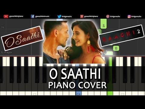 O Saathi Song Baaghi 2 | Piano Cover Chords Instrumental By Ganesh Kini