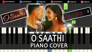 O Saathi Song Baaghi 2 | Piano Cover Chords Instrumental By Ganesh Kini