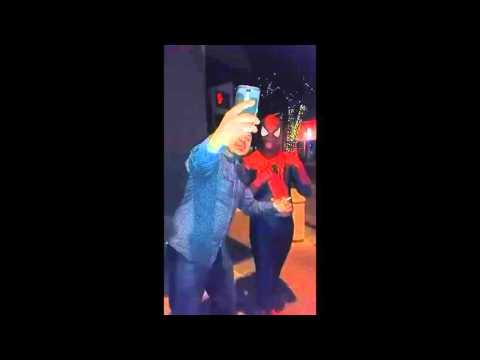 Spiderman trolling at Downtown Fullerton (May 6 2016)