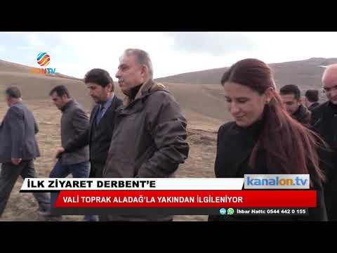 Konya Valisi Toprak ilk ilçe ziyaretini Derbent'e yaptı