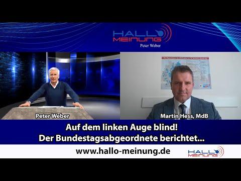 Auf dem linken Auge blind! Der Bundestagsabgeordnete berichtet...