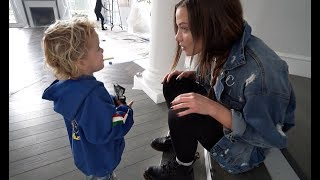 Mini Jake Paul asks Erika Costell OUT ON A DATE!! **So Cute**