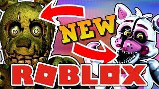 NEW SPRINGTRAP AND FOXY ANIMATRONIC Roblox Animatronic World